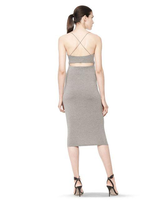 Alexander Wang | Gray Cutout Modal Cami Dress | Lyst