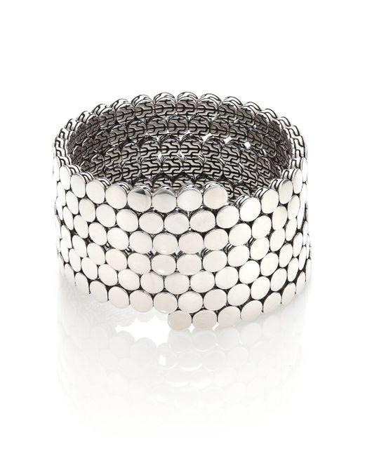 John Hardy | Metallic Dot Sterling Silver Multiple Coil Bracelet | Lyst