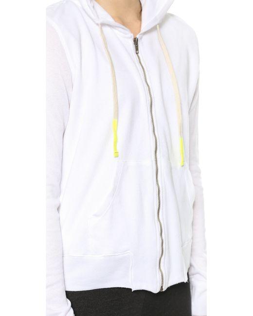 Sundry | White Classic Zip Hoodie | Lyst