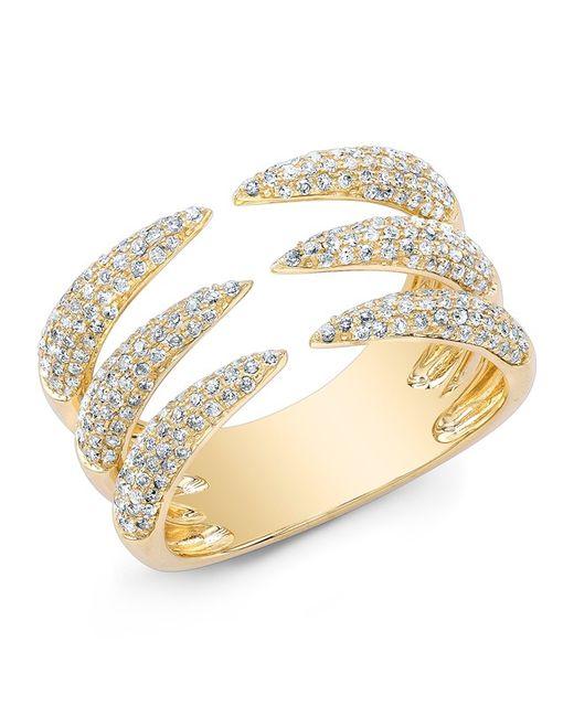Anne Sisteron - Metallic 14kt Yellow Gold Diamond Triple Horn Ring - Lyst