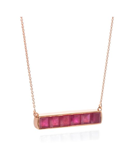 Monica Vinader | Red Baja Precious Necklace | Lyst