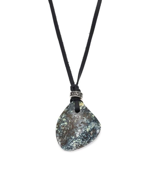 King Baby Studio   Blue Turquoise, Leather & Sterling Silver Necklace for Men   Lyst