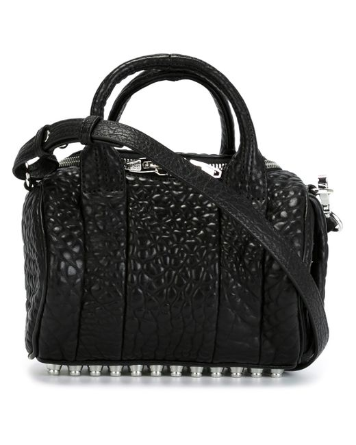 Alexander Wang | Black 'mini Rockie - Nickel' Leather Crossbody Satchel | Lyst