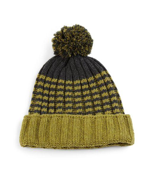 Gucci | Green Knit Wool Pom-pom Hat | Lyst