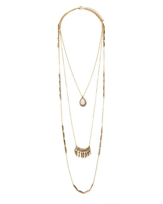 Forever 21 | Pink Faux Stone Layered Necklace | Lyst