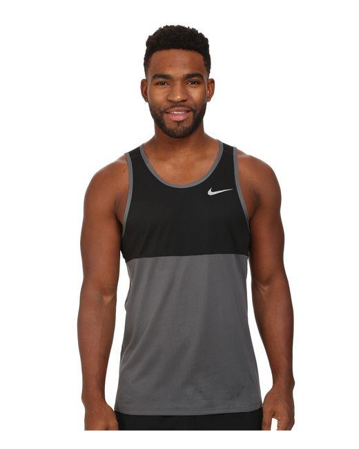 Nike | Black Dry Running Tank for Men | Lyst
