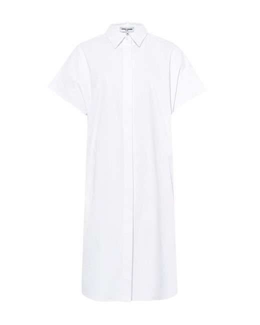Opening Ceremony | White Oversize Sateen Panelled Shirt Dress | Lyst