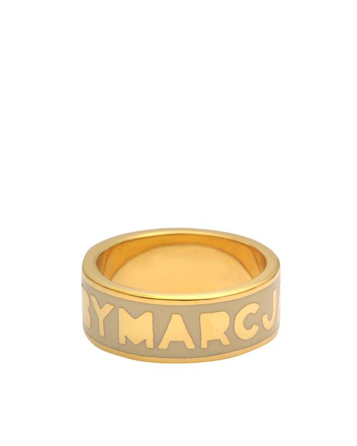 Marc By Marc Jacobs | Metallic Classic Marc Logo Ring | Lyst