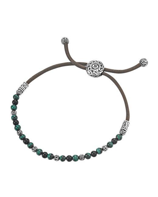 John Hardy   Blue Onyx & Malachite Cord Bracelet for Men   Lyst