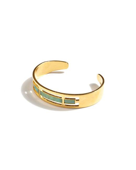A Peace Treaty | Metallic Tirsa Chrysoprase Cuff Bracelet | Lyst