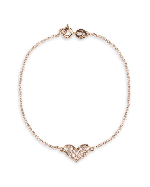 "Dana Rebecca | Metallic 14k Yellow Gold Double Triangle Necklace With Diamonds, 16"" | Lyst"