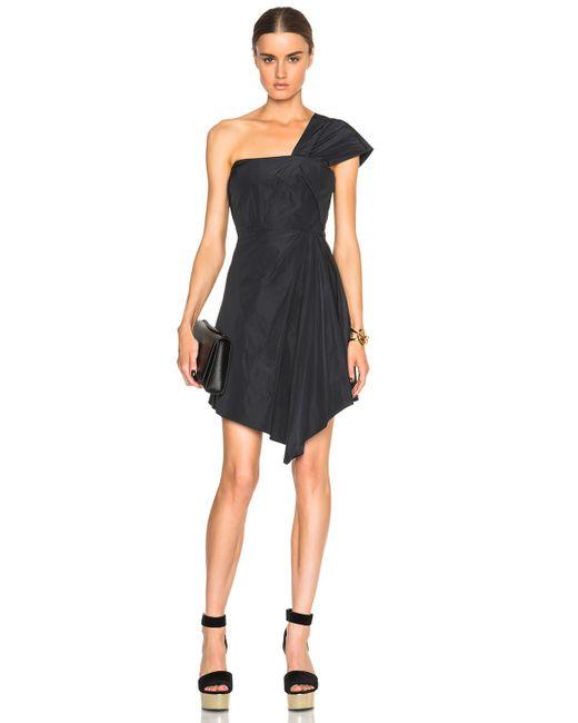 Carven   Black One Shoulder Dress   Lyst