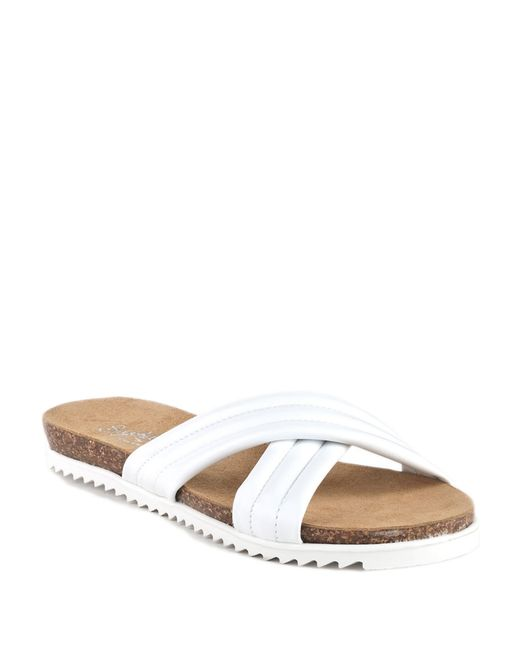 Seychelles | White Dusk Slide Leather Sandals | Lyst