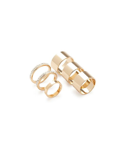 Forever 21 | Metallic Rhinestone Ring Set | Lyst