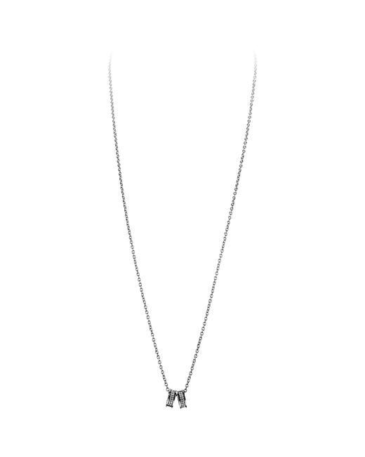 Dyrberg/Kern | Metallic Dyrberg/kern Fermi Swarovski Crystal Double Band Pendant Necklace | Lyst