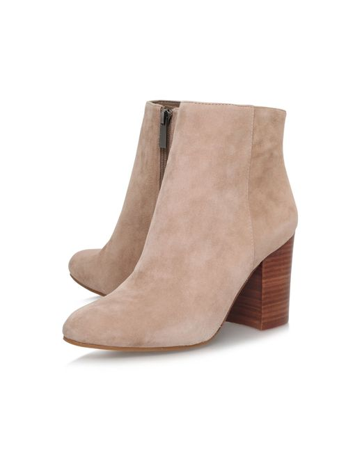 Vince Camuto | Brown Sabria Mid Block Heel Ankle Boots | Lyst