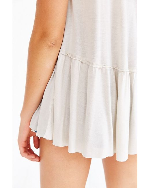 Truly Madly Deeply | White Dusty Road Peplum Tee | Lyst