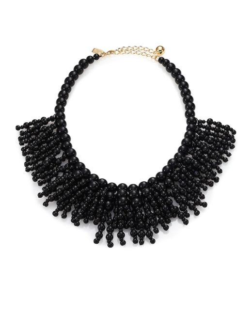 """kate spade new york   Black Fringe Appeal Necklace, 17""""   Lyst"""