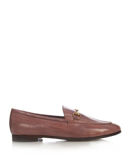 Gucci Jordan Horse-Bit Leather Loafers in Pink (LIGHT PINK ...