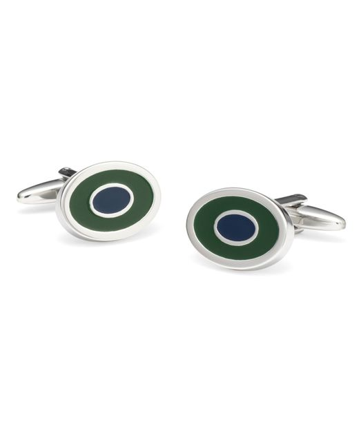 Brooks Brothers   Green Two-Color Oval Cuff Links for Men   Lyst