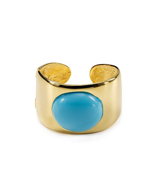 Kenneth Jay Lane | Blue Hinge Cuff | Lyst