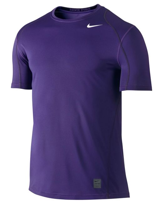 Nike | Purple Men's Pro Cool Fitted Dri-fit Shirt for Men | Lyst