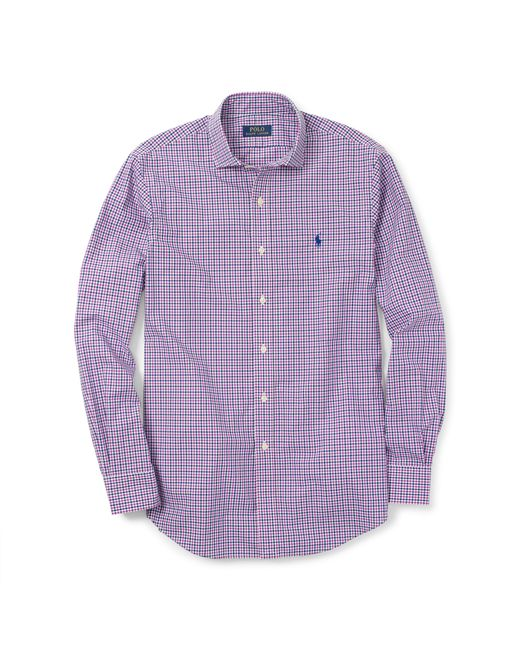 Polo Ralph Lauren | Purple Estate Slim-fit Poplin Shirt for Men | Lyst