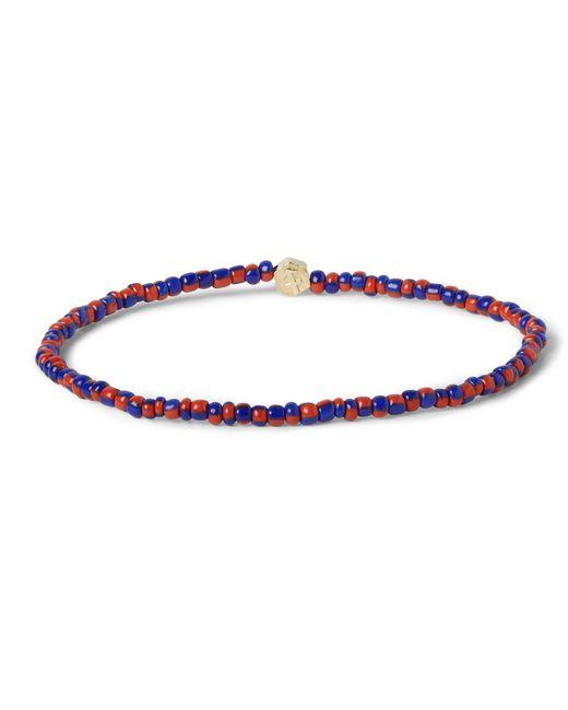 Luis Morais | Metallic Rose-gold And Square-bead Bracelet for Men | Lyst