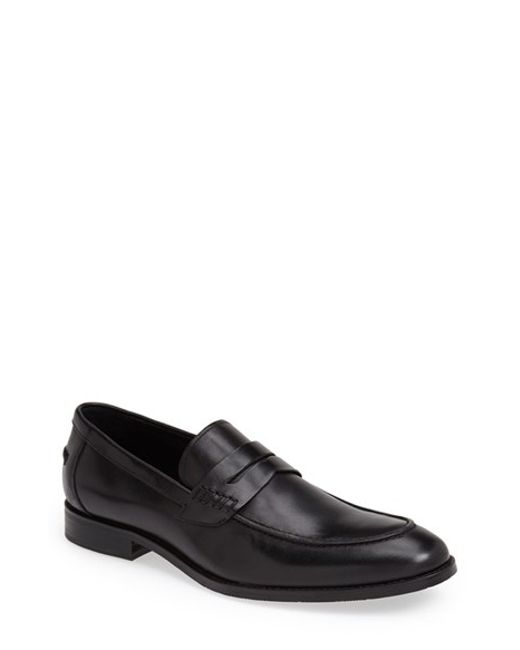 Gordon Rush | Black 'conway' Penny Loafer for Men | Lyst