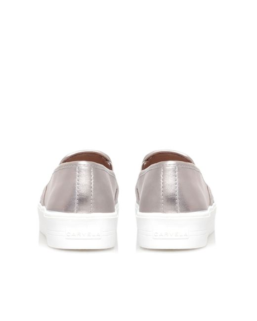 Carvela Kurt Geiger | White Lagos Flat Slip On Trainers | Lyst