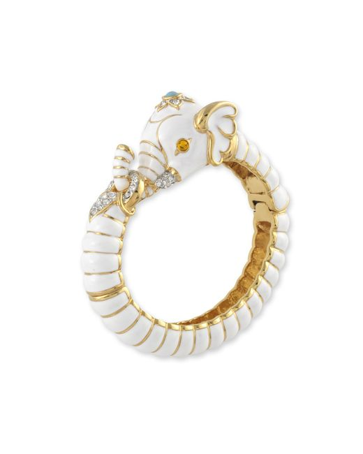 Kenneth Jay Lane | White Elephant Bracelet | Lyst