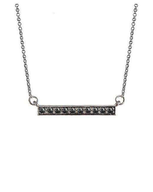 Adornia | Black Diamond And Sterling Silver Barra Bar Necklace | Lyst