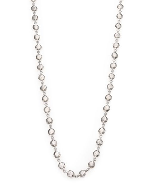 Ippolita | Metallic Glamazon Sterling Silver Flat Hammered Beaded Necklace | Lyst