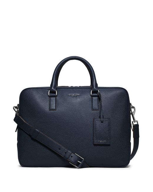 Michael Kors | Blue Bryant Leather Briefcase for Men | Lyst