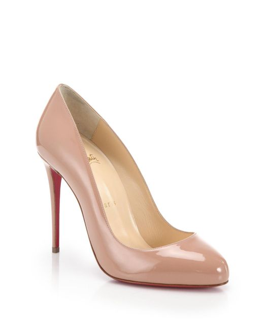 Christian Louboutin | Pink Dorissima Patent Leather Pumps | Lyst