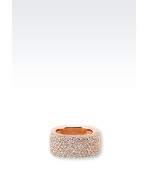 Emporio Armani | Pink Ring | Lyst