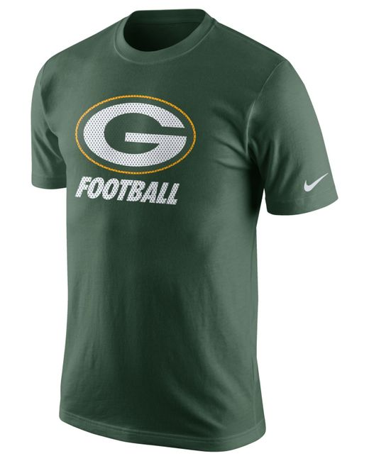 Nike Men 39 S Green Bay Packers Facility T Shirt In Green For