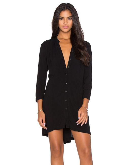 Bella luxx pleat back shirt dress in black save 51 lyst for Black pleated dress shirt