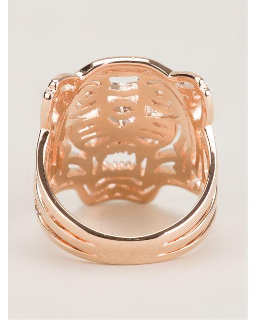 KENZO   Metallic 'tiger' Ring   Lyst