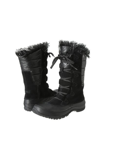 The North Face | Black Nuptse Purna Round Toe Synthetic Winter Boot | Lyst