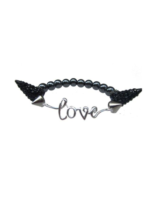 Electric Picks | Black 'all You Need Is Love' Bracelet | Lyst
