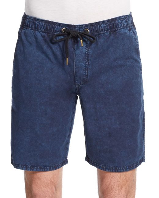Ezekiel | Blue Kamden Acid-wash Cotton Shorts for Men | Lyst