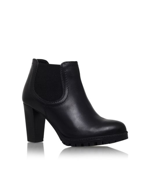 Carvela Kurt Geiger | Black Skittle Leather Ankle Boots | Lyst