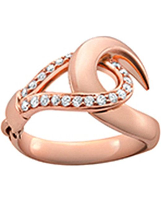 Shaun Leane | Metallic Signature 18ct Rose-gold And Diamond Hook Ring | Lyst