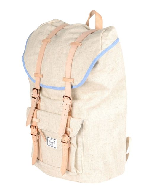 herschel supply co rucksacks bumbags in beige lyst. Black Bedroom Furniture Sets. Home Design Ideas