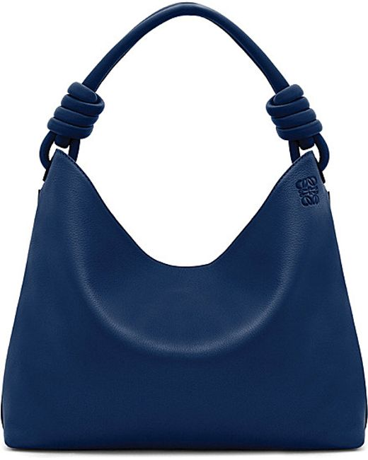 Loewe | Blue Hobo Leather Tote Bag Small | Lyst