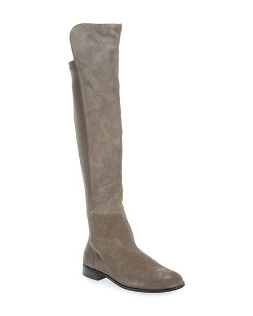 Corso Como | Gray 'laura' Over The Knee Boot (women) | Lyst