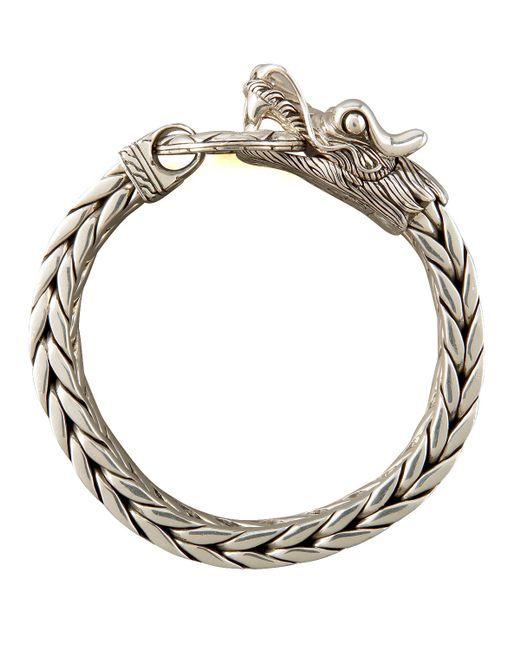 John Hardy Naga Dragon Bracelet In Silver Lyst