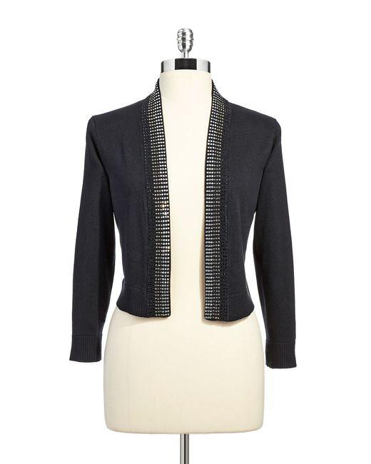 Calvin Klein | Black Rhinestone Embellished Shrug | Lyst