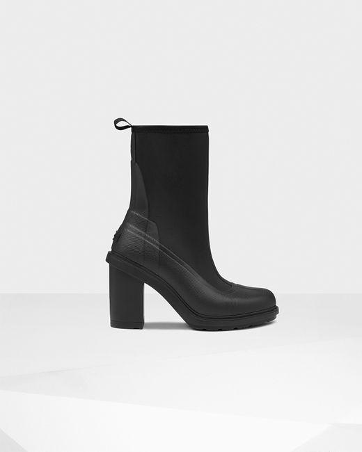 Hunter | Black Women's Original Gloss High Heel Boots | Lyst